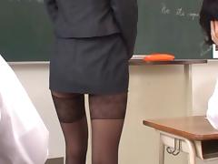 Haruka Sanada Asian teacher has a tight sexy skirt tube porn video