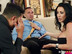 Jayden Jaymes moans with pleasure while riding a schlong tube porn video
