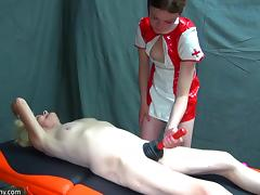 latex nurse plunges her old cunt tube porn video