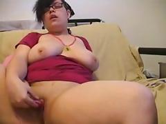 Enchanting Big Beautiful Woman masturbating for Web Camera two of two tube porn video