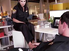 Miya Stone in police uniform fucks colleague hardcore tube porn video
