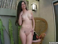 Kendall Karson sucks a dildo while getting her pussy pounded hard tube porn video