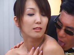 Hot Asian Shiho gets cum drenched during extreme bukkake tube porn video
