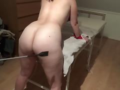 Danish girl light spanking with whip - Lidt blid bondage leg tube porn video