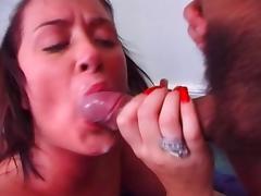 Brit slut in a dp threesome tube porn video