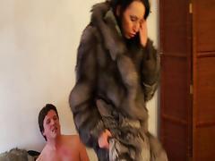 Hot Brunette gets fucked in fur 2 tube porn video