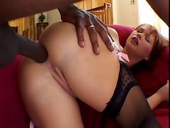 Katja Kassin hairy hard interracial anal tube porn video