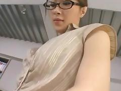 Cute Asian mistress fucks a guy with a strapon tube porn video