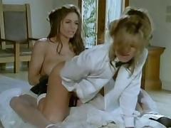 Lesbian Bride and Groom Strapon Fuck tube porn video
