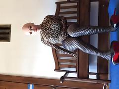 crossdresser changing tights tube porn video