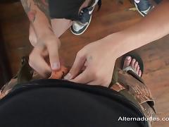 Hardcore cock-sucking action with insatiable queer Israel Oka tube porn video