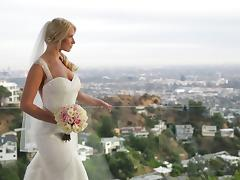 A MILF bride gets fucked hard in her dress on her wedding day tube porn video